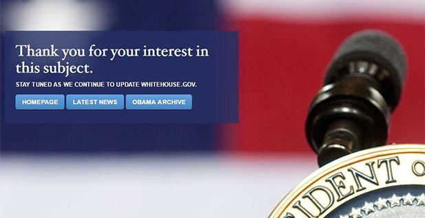Trump White House website for the President's Council of Advisers on Science and Technology