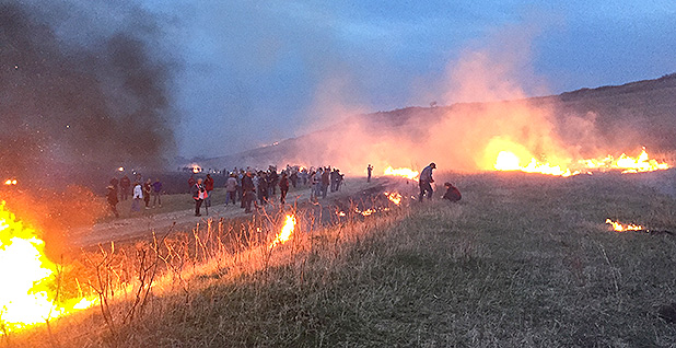 Flames in the Flint Hills event