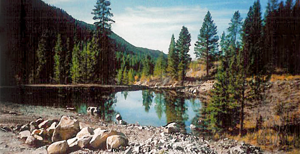 Mountain Valley Ranch pond 1990s photo
