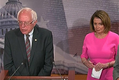 Sen. Bernie Sanders (I-Vt.), House Minority Leader Nancy Pelosi (D-Calif.)