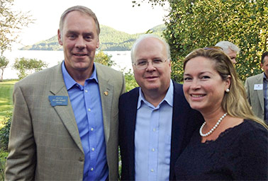 Zinke and Karl Rove