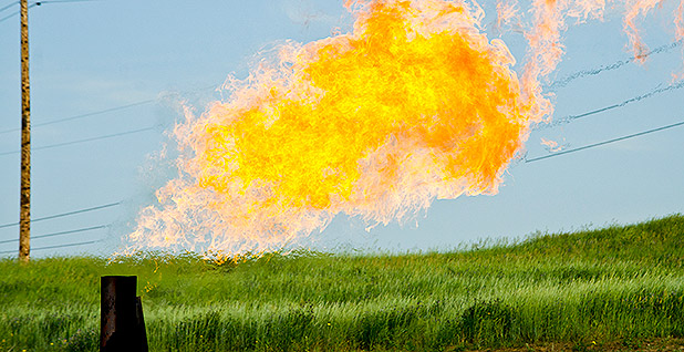 Methane gas flare. Photo credit: Tim Evanson/Wikipedia