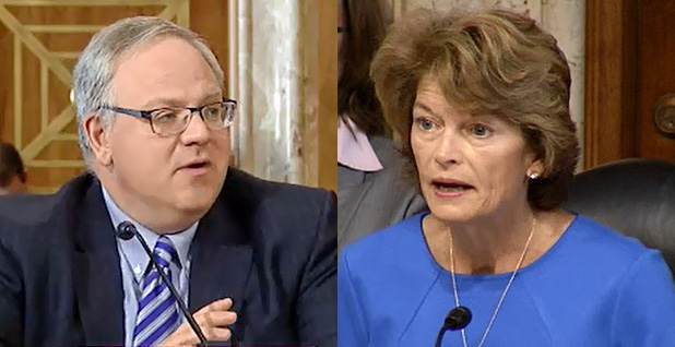 Lisa Murkowski and David Bernhardt. Photo credits: Energy and Natural Resources Committee