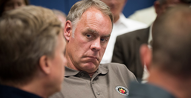 Ryan Zinke. Photo credit: Lance Cheung/USDA
