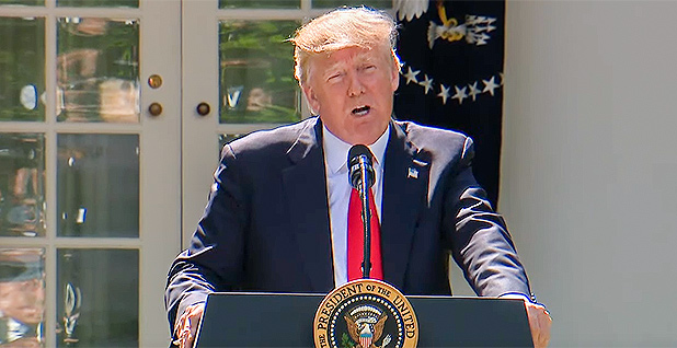 President Trump Paris agreement. Photo credit: White House/YouTube