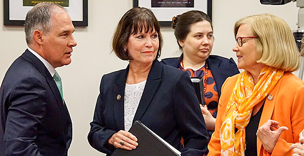 Scott Pruitt, Chellie Pingree, Betty McCollum. Photo credit: Niina Heikkinen/E&E News