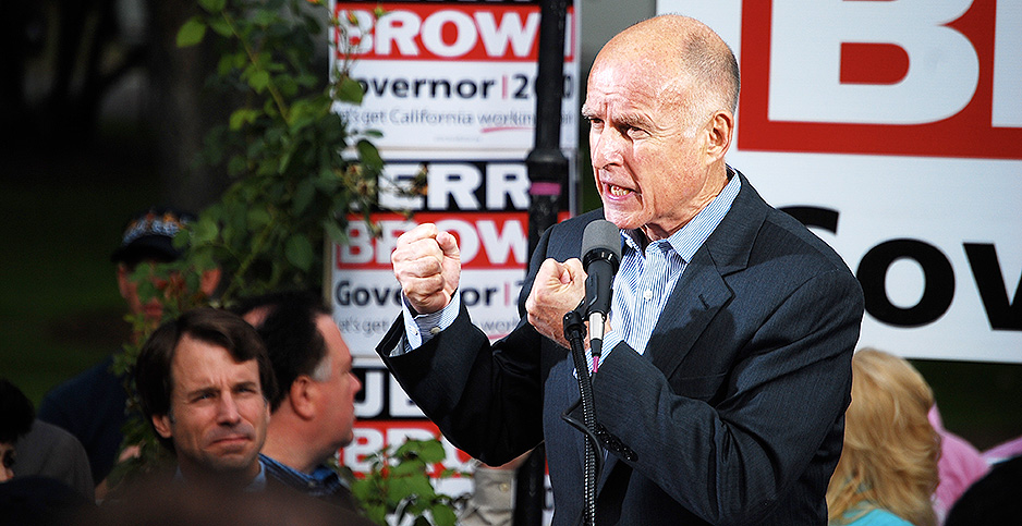 Jerry Brown. Photo credit: Bob Tilden/Flickr