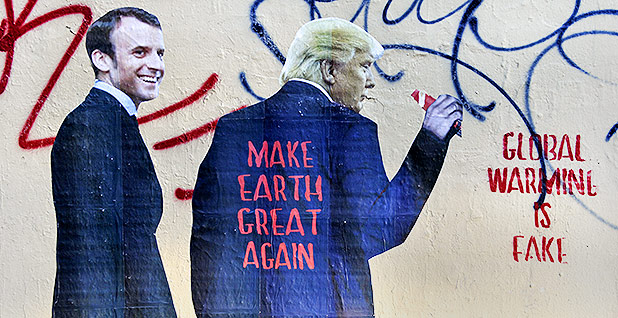 Trump street art in Paris. Photo credit: Alain Apaydin/Sipa USA/Associated Press