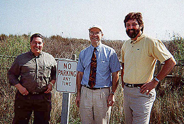 From left to right: Jerry Finkel, William Fischel and Davis Lucas . Photo credit: William A. Fischel/Dartmouth College