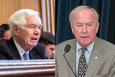 Thad Cochran (R-Miss.) and  Rodney Frelinghuysen (R-N.J.). Photo credit:
