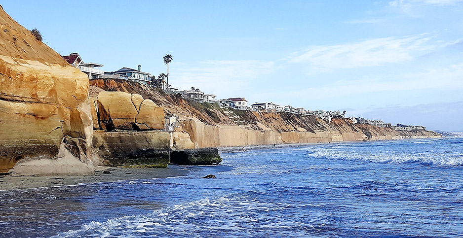 Seawalls in Solana Beach. Photo credit: Jim Jaffee/Special to E&E News