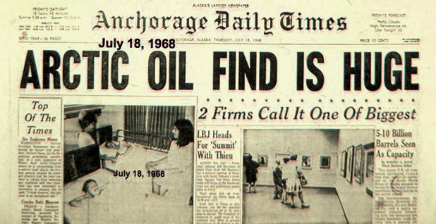 1968 Alaska newspaper. Photo credit: Gil Mull/Special to E&E News