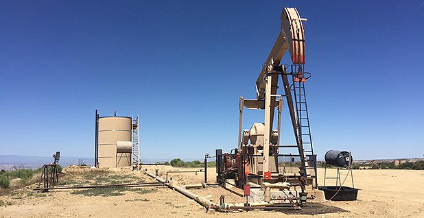 Oil and gas well. Photo credit: Ellen M. Gilmer/E&E News