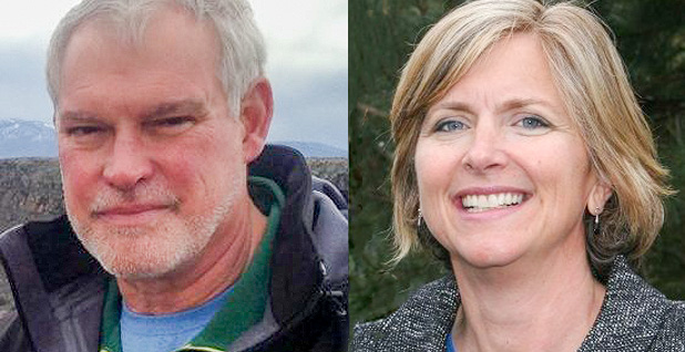Bud Cribley and Amy Lueders, BLM. Photo credits: Cribley/LinkedIn;BLM/Facebook (Lueders)