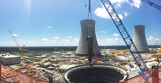 Plant Vogtle's expansion Unit 3. Photo credit: Georgia Power Co.