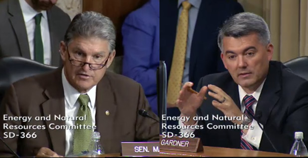 Joe Manchin and Cory Gardner. Photo: Senate Energy and Natural Resources Committee