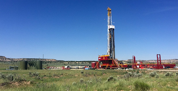 New Mexico drilling rig. Photo credit: Ellen M. Gilmer/E&E News