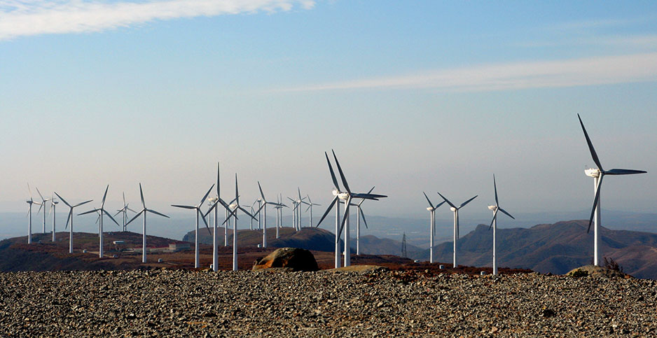 Wind farm. Photo credit: Land Rover Our Planet/Flickr
