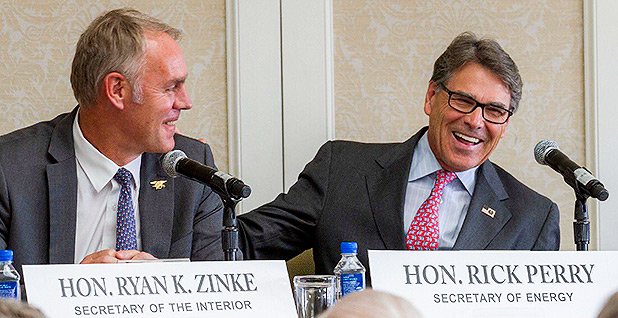 Interior Secretary Ryan Zinke and Energy Secretary Rick Perry. Photo credit: @SecretaryPerry/Twitter