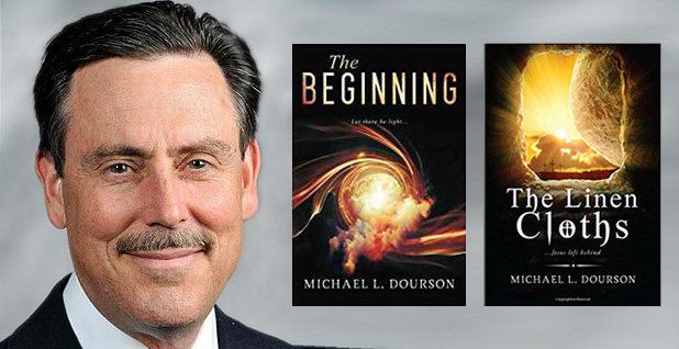 Michael Dourson with his two book covers. Photo credits: Dourson/Facebook;CreateSpace Independent Publishing(bookcovers)