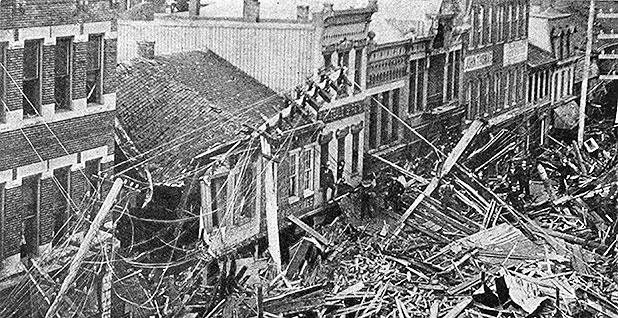 1889 Johnstown flood in Pennsylvania. Photo credit: E. Benjamin Andrews/History of the United States/Wikipedia