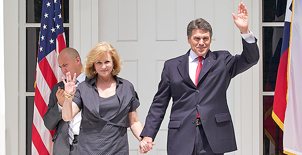 Anita and Rick Perry. Photo credit: Perry/Flickr