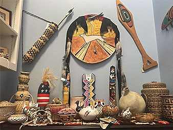 Pallone's native artifact collection in his Capitol Hill office. Photo credit: Hannah Northey/E&E News
