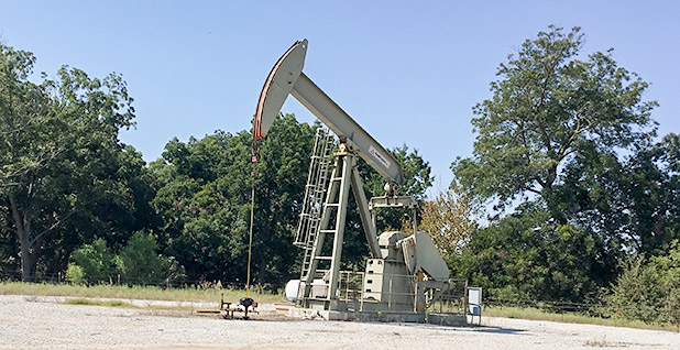 Oil and gas well pumpjack. Photo credit: Mike Soraghan/E&E News