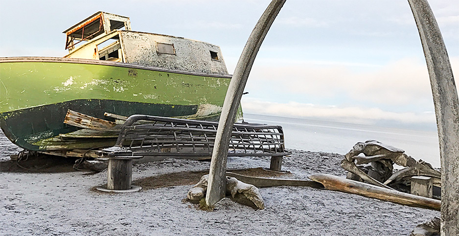 Utqiagvik, a whaling village boat. Photo credit Scott Waldman/E&E News