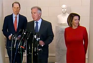 Democrats speaking on tax reform. Photo credit: C-SPAN