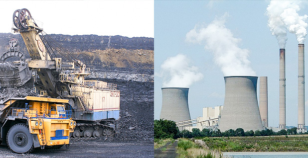 Coal mine and Nuclear power plant. Photo credits: stafichukanatoly/Pixabay(coal);Analogue Kid/Wikipedia(nuclear)