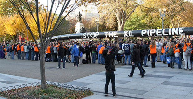 Keystone XL protests. Photo credit: Javier Sierra/The Sierra Club/Flickr