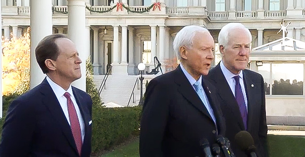 Orrin Hatch and other Republican senators. Photo credit: C-Span