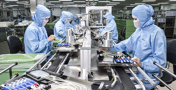A Baxter International Inc. manufacturing facility for intravenous bags. Photo credit: Baxter International Inc.