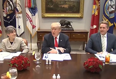 President Trump meets with Senate Republicans. Photo credit: C-SPAN