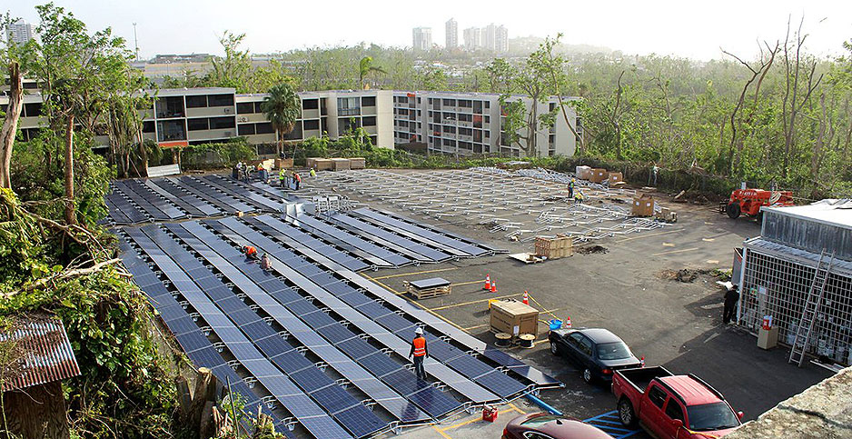 Tesla Inc. installed solar and storage in Puerto Rico. Photo credit: @Tesla/Twitter