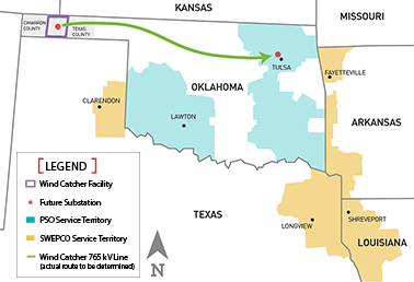 Wind Catcher Energy Project map. Map credit: Wind Catcher
