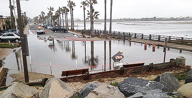 Flooded street in Imperial Beach, Calif. Photo credit: Serge Dedina