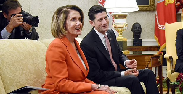 Congressional leaders in White House. Photo credit: Abaca Press/Sipa USA via AP/SIPAPRE/Associated Press
