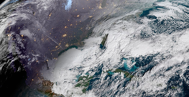 Satellite image of storm. Photo credit: NOAA