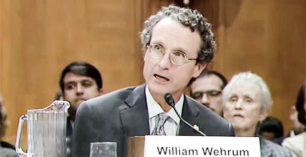 Bill Wehrum. Photo credit: Senate Environment and Public Works Committee