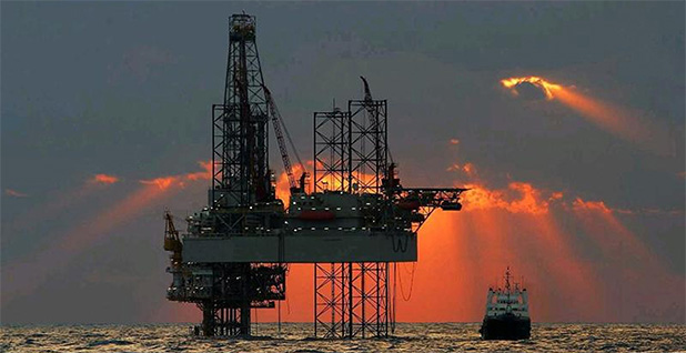 Offshore rig. Photo credit: Bureau of Ocean Energy Management/Flickr