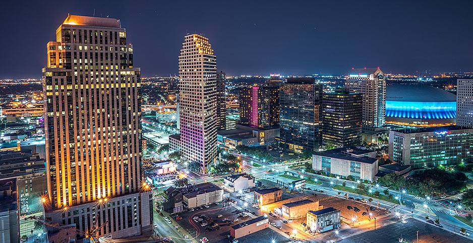 City of New Orleans at night. Photo credit: Antrell Williams/Flickr