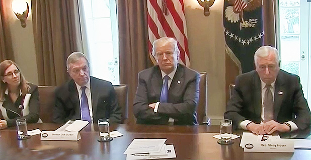 President Trump meeting with congressional leaders. Photo credit:C-SPAN