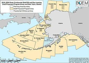 The Interior Department oil and gas leasing five-year plan. Photo credit: Bureau of Ocean Energy Management