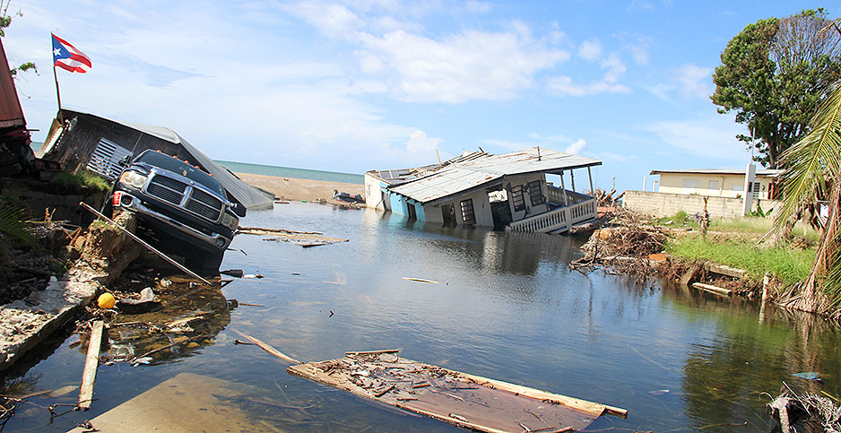 Destruction from Hurricane Maria in Puerto Rico. Photo credit: Arianna Skibell/E&E News