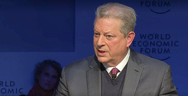 Al Gore at World Economic Forum. Photo credit: World Economic Forum