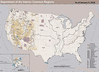 13 proposed Interior Department regions. Map credit: Special to E&E News