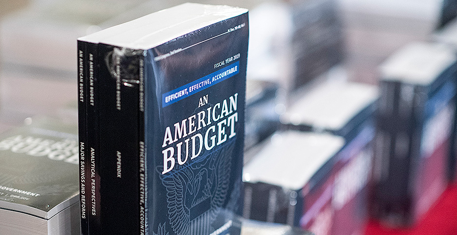 2019 Budget books. Photo credit: Bill Clark/CQ Roll Call/Associated Press