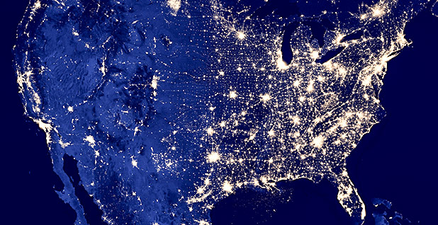 Satellite image of the United States at night. Photo credit: NASA Goddard Space Flight Center/Flickr